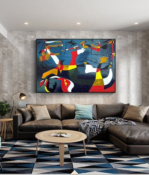 Famous Abstract Oil Painting Home Decoration Big Picture Handmade Canvas Painting Art Wall Pictures For Living Room