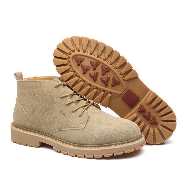 Brand Men Shoes Autumn Winter Men Boots Fashion Vintage Style Male Motorcycle Shoes High-Cut Men Casual Shoes
