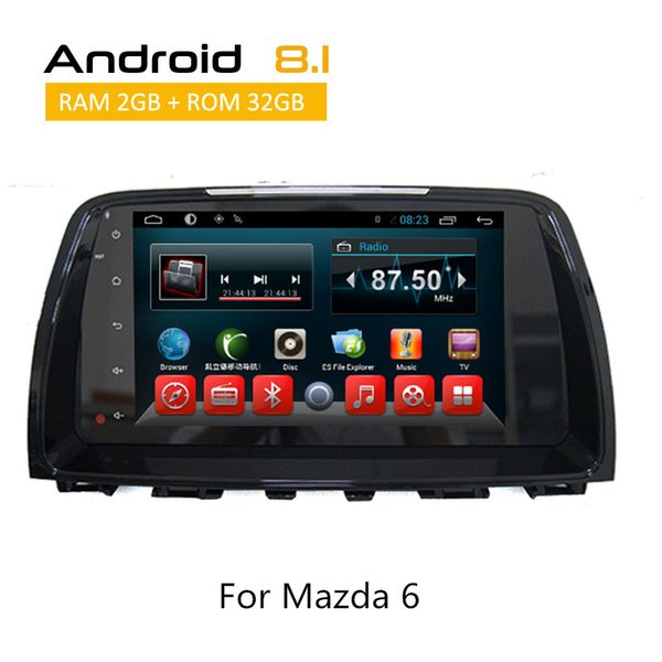 Double Din Touch Screen Multimedia For Mazda 6 2016 2017 Android System Car DVD GPS Navigation AUX Bluetooth rear camera