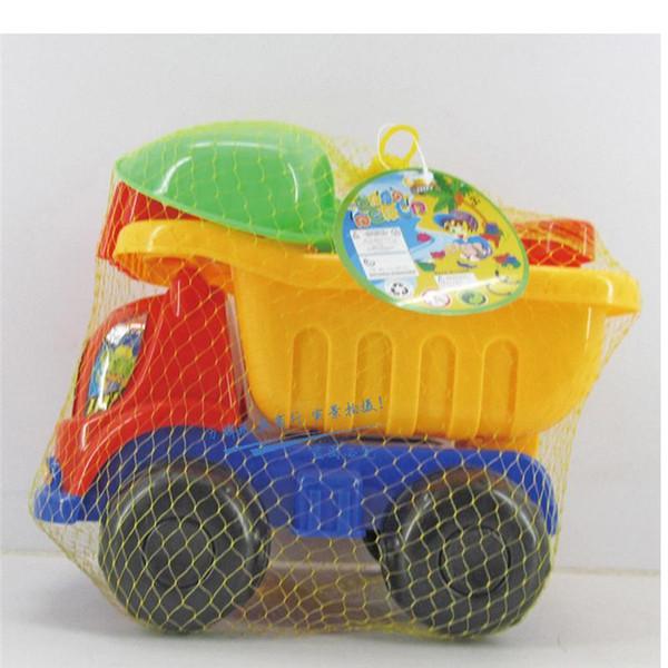 New Arrival 7 Pcs Sand Sandbeach Kids Beach Toys Car Bucket Spade Shovel Rake Water Tools Great Fun for Children Playing fun #