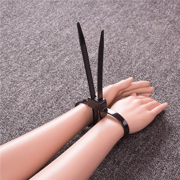 수갑 발목 소매 장식품 하프니스 성 장난감 플라스틱 자물쇠 노예 속박 성인 게임 커플 장난감을위한 BDSM 제한