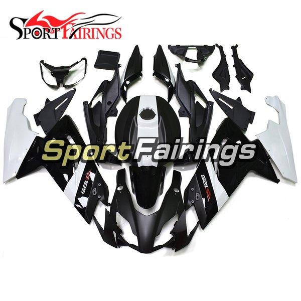 Fibra de carbono Efecto Negro Blanco 2006-2011 RS125 Motocicleta Carenados completos para Aprilia RS125 2006 - 2011 07 08 09 10 ABS Carrocería Nueva cubierta