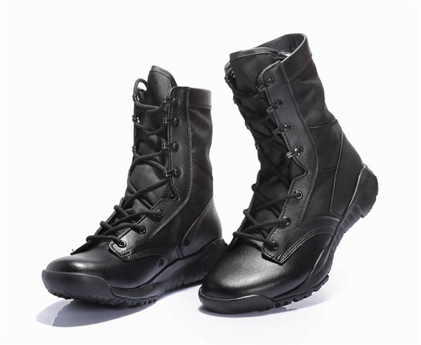 CQB ultra-light combat boots summer high top desert boots men's tactical combat shoes security army boots