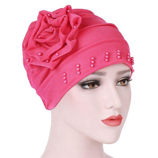 706953c4e55a8 Fashion Women India Hat Muslim Solid Ruffle Cancer Chemo Hat Beanie Scarf  Turban Head Wrap Cap
