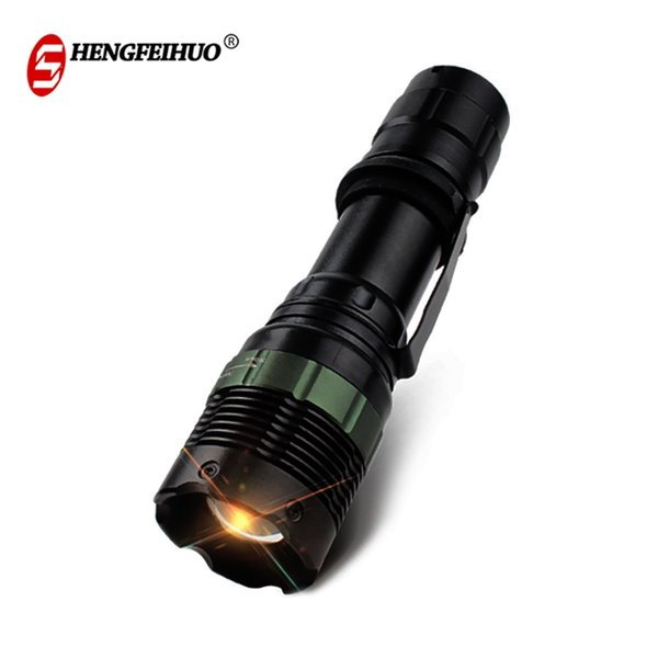 LED Zoom Aluminum Alloy Highlight Flashlight Portable Waterproof Torches For Camping Fishing Hiking 3 Lighting Modes Lights Free Shipping