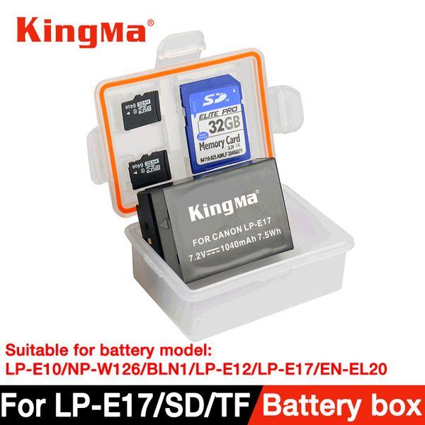 Großhandel 5 Stücke Kunststoff Fall Halter Aufbewahrungsbox für DSLR Kamera Batterie LP-E10 / NP-W126 / BL-N1 / LPE12 / LP-E17 / EN-EL20 / EN-EL12 / NB-12L