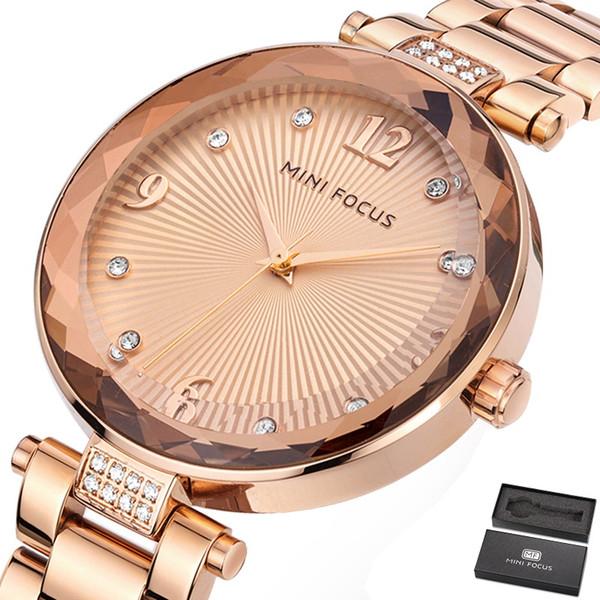 Luxury Women Watch Famous Brands Gold Fashion Design Bracelet Watches Ladies Women Stainless Steel Band WristWatches Relogio Femininos