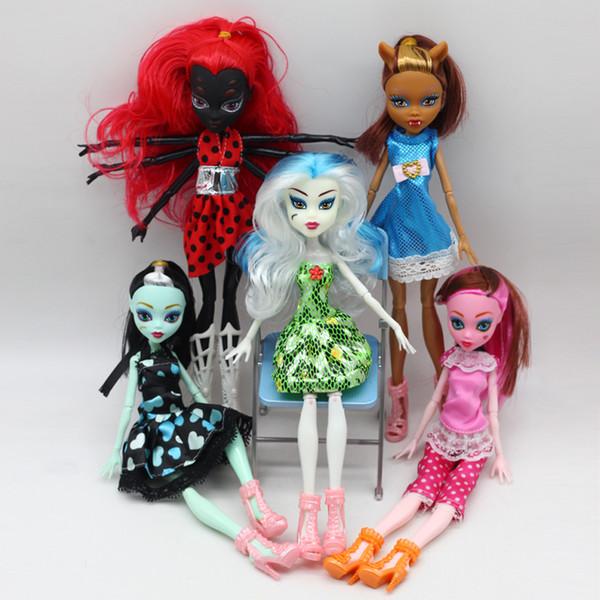 5 estilos Devil Doll Set Head Body Body Shoes Shoes Set Regalo muñeca de niña el mejor regalo de Halloween para niños niñas