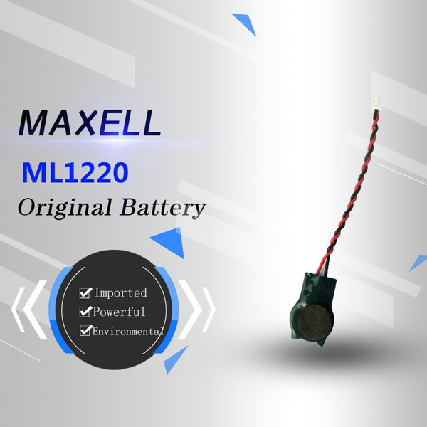All-new white plug imported genuine MAXELL ml12203v rechargeable laptop motherboard button battery instead of red and black double-wire