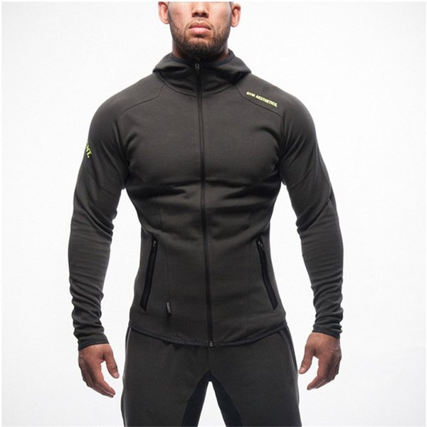 NANSHA Gyms Hoodie Clothes Bodybuilding Sweatshirt Clothing Zipper Pocket Conventional Sweatshirts Cheap fitness Pullover Hooded