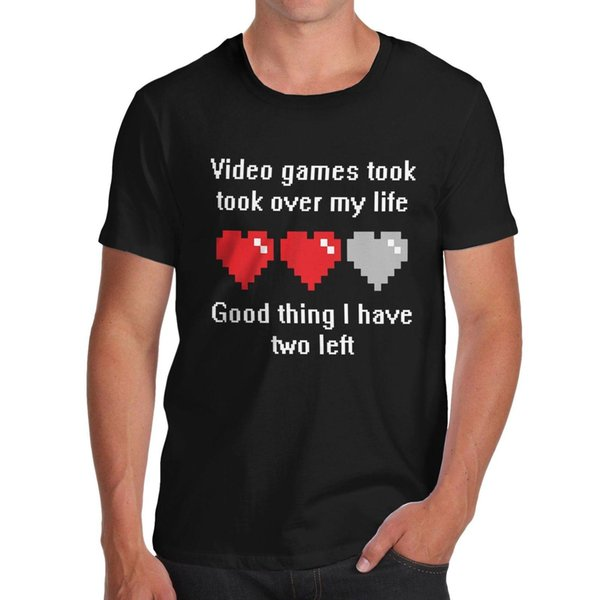 Men's Video Games Took Over My Life, I have Two Lives Left Funny T-Shirt