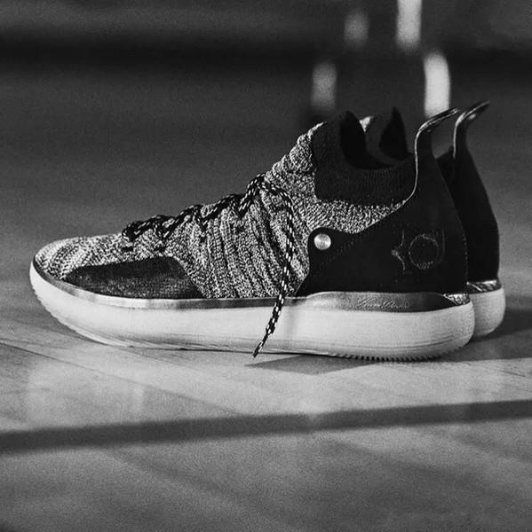 40-46 Yeni Varış KD 11 EP Oreo Buz Mavi Spor Basketbol Ayakkabı için En kaliteli Mens Kevin Durant 11 s Eğitmenler Tasarımcı ...