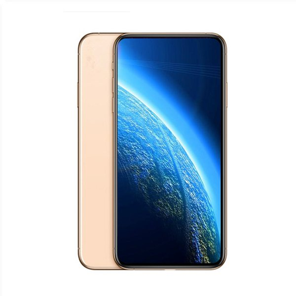 6.5inch Full Screen Goophone xs max 1G/8G Quad core Unlocked phone MTK6580 show fake 4G/256G 4G LTE Dual SIM phones