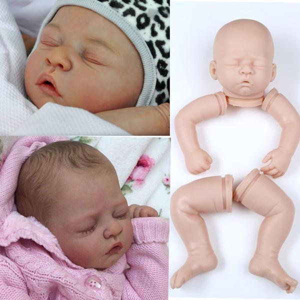 silicone reborn baby doll kits soft body lilfelike vinyl dolls DIY accosseries for 20inch wholesale blank Unfinished Art Works
