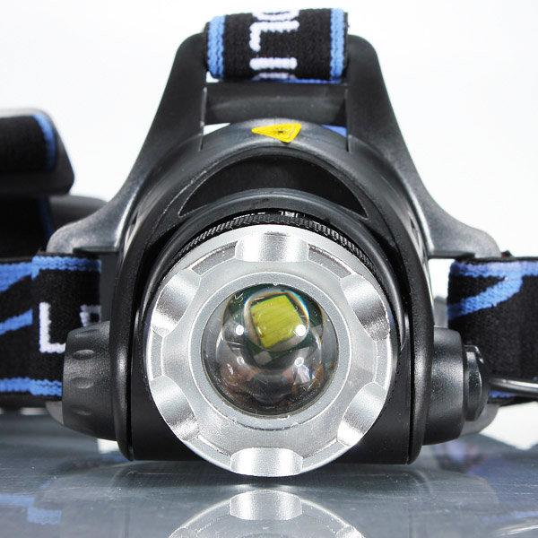 XML T6 Bike Bicycle Headlamp Headlight Zoomable Adjustable LED Light Rechargeable Zoomable Waterproof High Power Led Headlamp for Camping