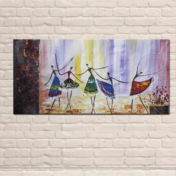 Peintures à l'huile de ballet à la main sur toile Moderne peinture sur toile abstraite Danseur de ballet pour salon décoration murale photos