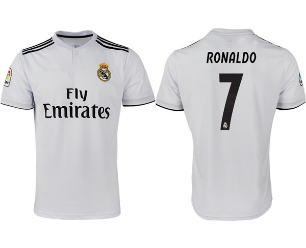 separation shoes 4a37f b39e9 2019 Real Madrid La Liga 7 RONALDO Jersey 2018 2019 Men Respect Soccer  Stefano Puskas Zidane Raul Hugo Sanchez Football Shirt Kits Uniform From ...