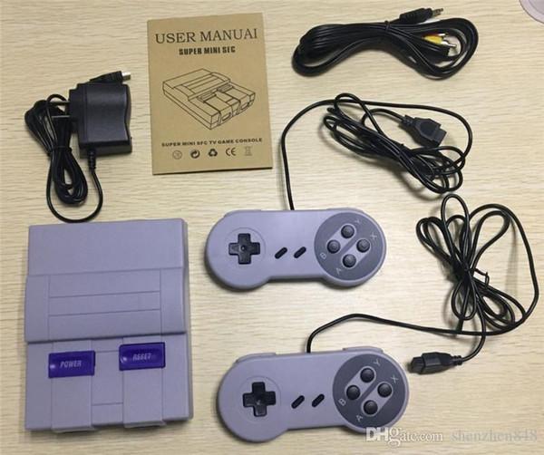 Consola de juegos portátil Super Mini SFC para juegos Nes SNES con paquete de venta al por menor de Engilsh H-JY
