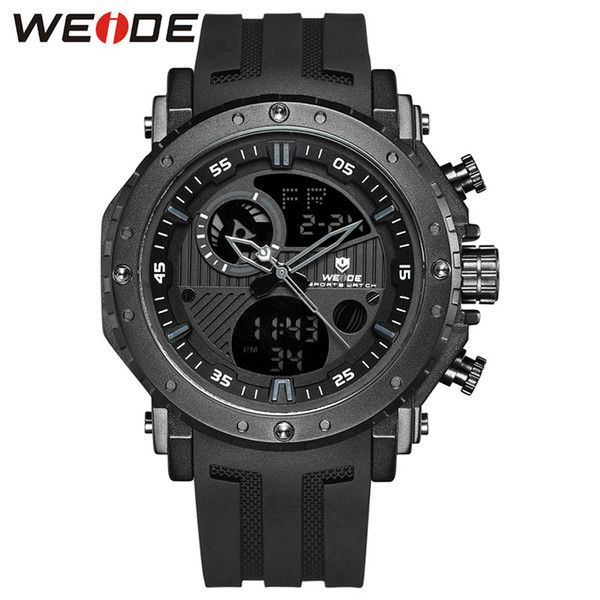 New WEIDE-WH6903 luxury men's large dial LED dual display watch alarm luminous outdoor sports watch 30M waterproof MI movement quartz watch