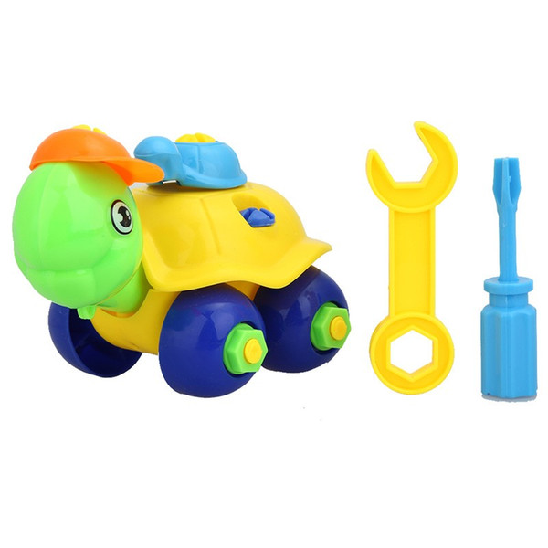 New DIY Disassembling Small Turtle Puzzle Children Assembled Model Tool Clamp With Screwdriver Educational Toys Random Color