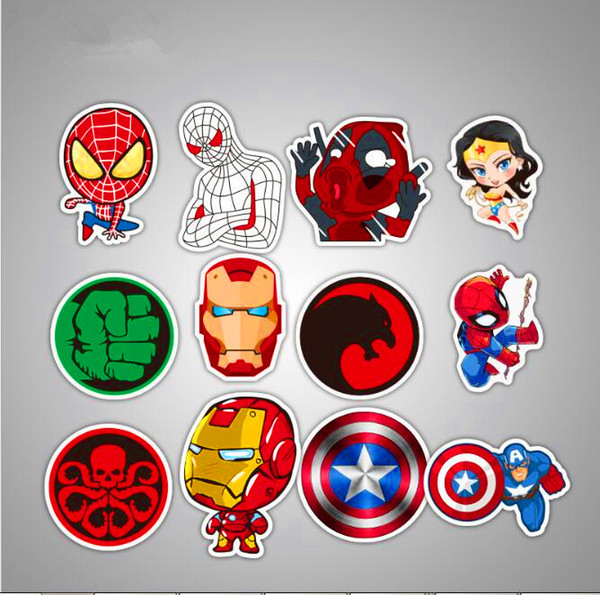 top popular Hot 50 Pcs Lot Car stickers For Marvel Iron Man Classic Sticker Toy For Laptop Skateboard Luggage Decal Funny Spiderman Stickers For kids 2020