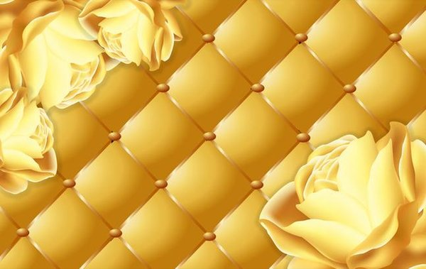 Golden Rose Soft Case 3d Solid Background Wall 3d Murals Wallpaper For Living Room Wallpapers For Hd Wallpapers For Mobile From Dhzhang20188 4021