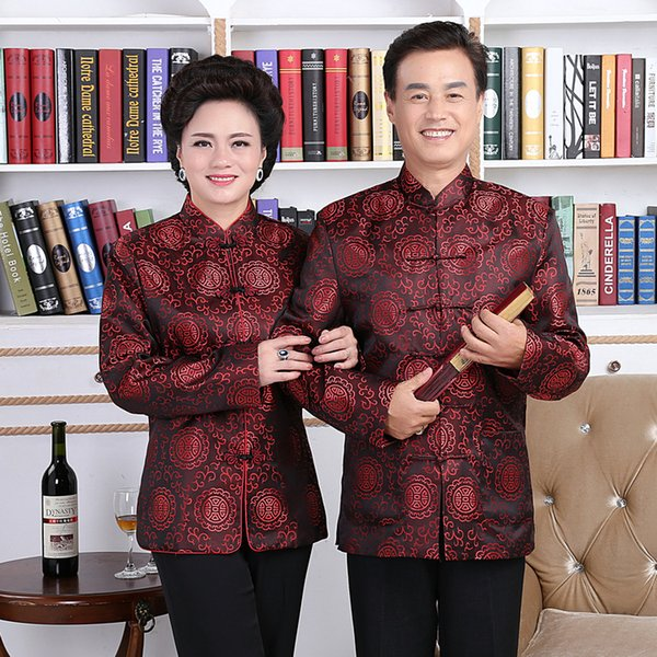 New Arrive Tang Suit Traditional Chinese Jackets Men Women Long Sleeve Tops Chinese Costume Style Wedding Blouse