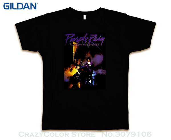2019 Short Sleeve Cotton T Shirts Man Clothing Purple Rain Prince Revolution Custom Tee T shirt New Black