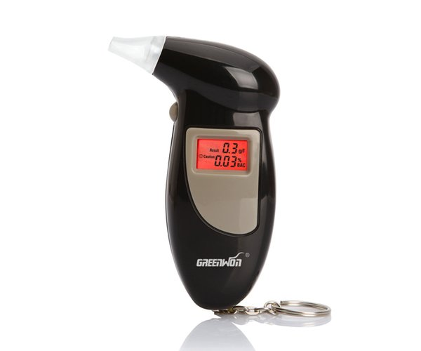 GREENWON Digital Breathalyzer Breath Alcohol Tester Keychain With Backlight Backlight Alarm Alert Auto Power Off For Safety Driving