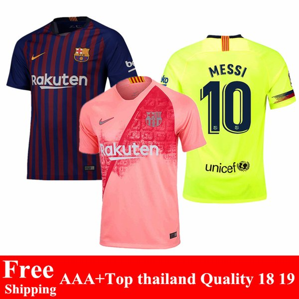 pretty nice 7665d c120e 2018 2018 2019 New Barcelona Soccer Jersey Messi Suarez O.Dembele 18 19  Home Away Fcb Football Jersey Coutinho Pique Barcelona Third Shirts From ...