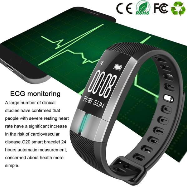 GYKZ EKG Monitor Fitness Tracker Sportuhr Pulsmesser Pulsmesser Smart Armband Bluetooth Gesundheit Tracker Smart Uhr