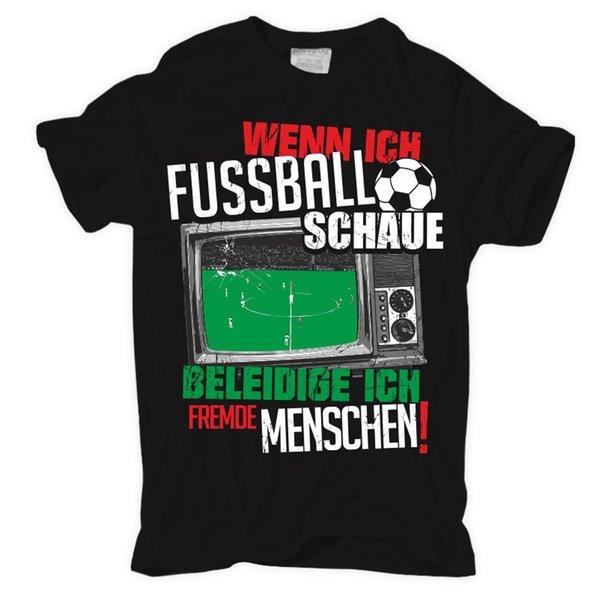 T Shirt Wenn Ich Fussball Schaue Wm Fans Deutschland Stadion Spruch Lustig Mob Cartoon Print Short Sleeve T Shirt Vintage T Shirt Cute T Shirts From