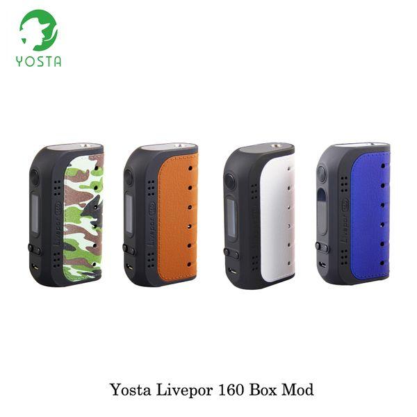 cigarette electronique 160W Yosta Livepor 160 TC Box MOD Powered By Dual 18650 Battery Fit 510 Thread RDTA RTA Atomizer Vape