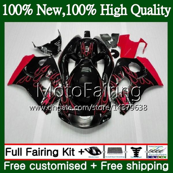 Body GSXR-600 For SUZUKI SRAD GSXR600 Red GSXR750 96 97 98 99 00 5HM17 GSXR 600 750 GSX R750 1996 1997 1998 1999 2000 Fairing Bodywork