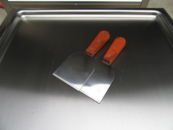la spedizione gratuita per porta in acciaio inox 304 strumenti per la preparazione del gelato, fritto gelato spatola, gelati pala, paletta con manico in legno