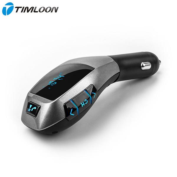 12V-24V Bluetooth Kit de Coche Transmisor FM Inalámbrico Manos Libres Reproductor de MP3 Adaptador de Radio Soporte USB Cargador, Tarjeta TF, U Disco, A2DP