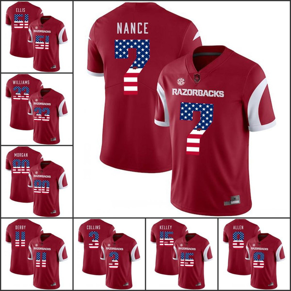 National flag ncaa Arkansas Razorbacks College Football Jerseys 2018 New Darren McFadden Austin Allen Cole Kelley David Williams Jonathan