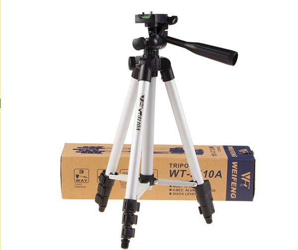 WEIFENG WT3110A Kamera Stativ mit 3-fach Kopf Stativ WT-3110A für Canon Nikon Pentax Digitalkamera DV Camcorder Telefon