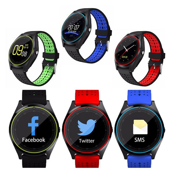 V9 Smart Wrist Watch Bluetooth 4.0 Smartwatch Support SIM TF Card With 1.3MP HD Camera For iOS iPhone Samsung Android