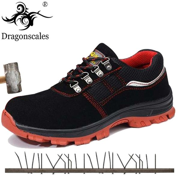 Breathable Steel Toe Cap Work Safety Shoes Anti-smashing Anti-piercing Construction Work Footwear Breathable Sneakers Boots Men's Shoes