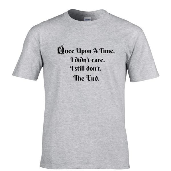 newest 6bfa7 c922e Once Upon A Time Bedruckt Slogan Spruch Design PREMIUM QUALITäT Herren T  Shirt Men Shirt Shirt Designer From Dhgategiff, $11.01| DHgate.Com