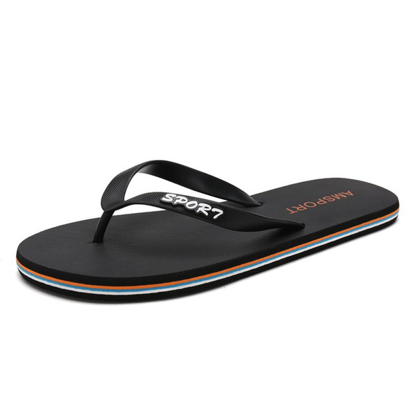 Men's flip-flop men's summer non-slip sandals and slippers personalized Korean version of the trend of the foot outdoor beach shoes men's le