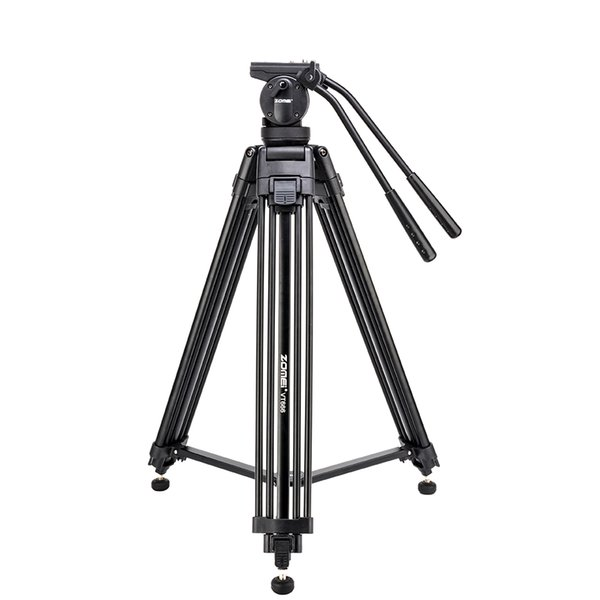 wholesale VT666 Tripode Professional Heavy Duty Stable Tripod Stativ With 360 Degree Panoramic Fluid Head For Camera DV Camcorder