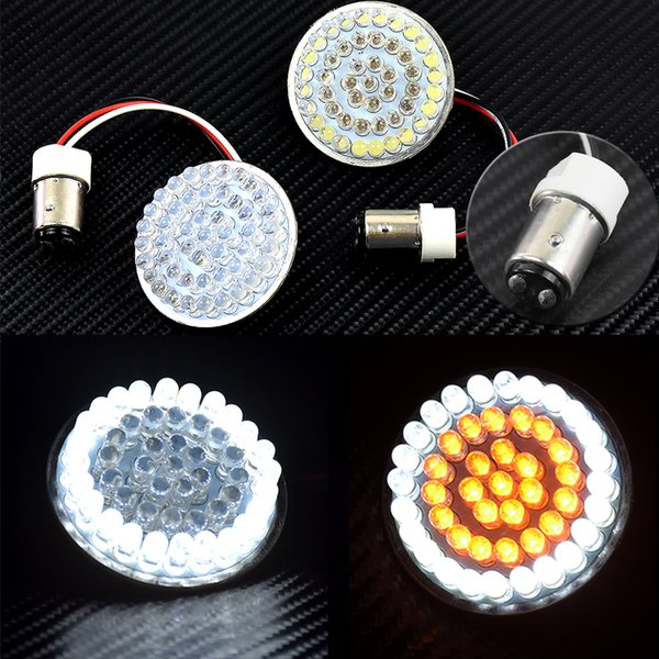 Motorcycle Parts 1157 Turn Signal LED Inserts 2 Bullet Yellow&White For  Harley Softail 2011 17 For Dyna12 17 Touring 14 17 Cars Parts Cars Parts  Used