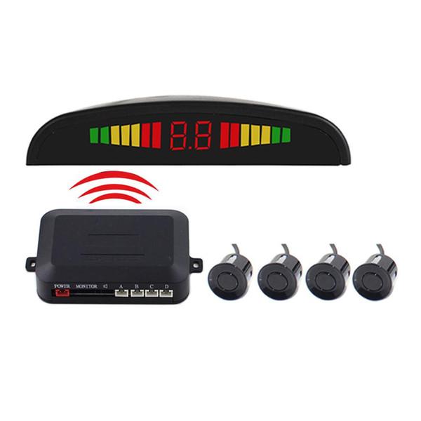 DC12V Wireless radar di parcheggio posteriore inverso 4 sensori radar Buzzer 2.5M distanza di sicurezza Attenzione Display a LED di allarme audio