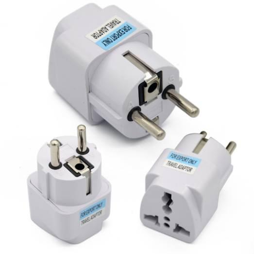 New Arrival Best Price Universal UK US AU to EU White European Charger Power Socket Plug Power Adapter Travel Converter