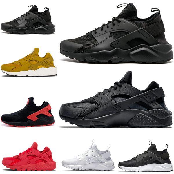 Acheter Nike Air Huarache Shoes Vente Chaude Triple Blanc Noir Huarache 4.0 1.0 Chaussures Course Classique Rouge Rose Or Homme Femme Chaussure