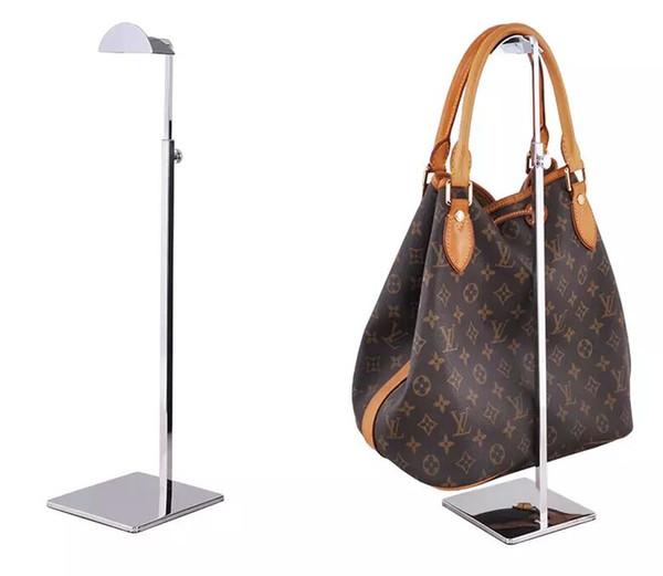 Justierbarer Metallhandtaschen-Präsentationsständer Frauen-Handtaschen-Taschen-Ausstellungsstand-Halterperücke Hut Schals Hakenstandplatz