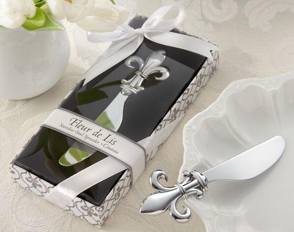 Fleur de Lis Chrome Spreader Butter Messer Hochzeit Gunsten Küche Hochzeitsgeschenke und einzigartige Gastgeschenke Gastgeschenk