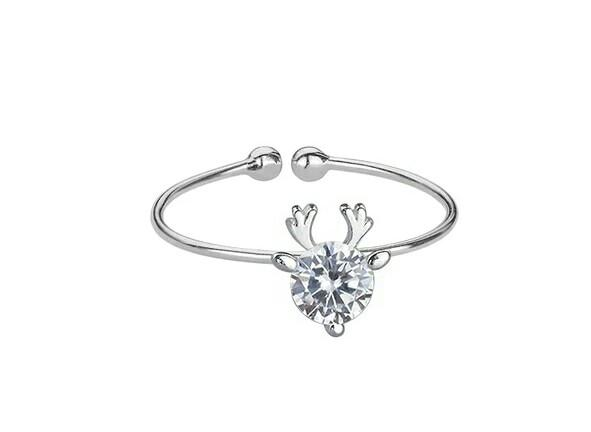 New Arrival Women's 925 Sterling Silver Diamond Ring of Korean Index Fanger Fresh Simple Thin